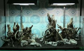 水草造景发个150*60的骨架给大家看看水草缸教程之后补齐