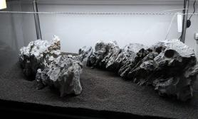 峡谷水草缸搭石景是个力气活