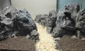 60石景缸开缸模仿记录 - 武陵源之奇美山水