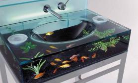 时尚水族缸洗手槽(多图)