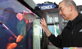水族玩家有绝活训练鱼儿听人话(图)