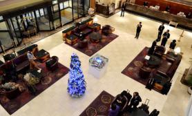 沉木青龙石造景缸与商业空间-35