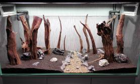 刚整的120的骨架鱼缸水族箱