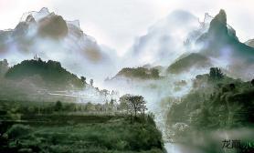 水族箱造景可以构思出石景缸和中式山水风景的图片共朋友们借鉴