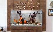 经典神仙缸水草缸造景与底柜融为一体鱼缸水族箱