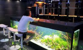 牛逼的酒吧吧台水草缸国内何时能出现鱼缸水族箱鱼缸水族箱