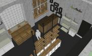 水族店装修三维效果图