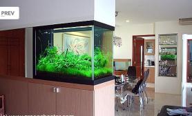 沉木青龙石造景缸与家装空间-07