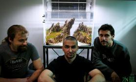 三个老外联手打造出的松皮石美景缸