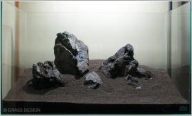 水草缸造景沉木水草泥化妆砂青龙石60CM尺寸设计19