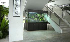 沉木青龙石造景缸与商业空间-05