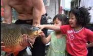 日月潭钓到罕见大鲤鱼(图)