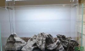 纯石景缸造景水草缸简单而不失高雅