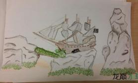 太任性了水草缸这是在草缸里造了艘船吗?