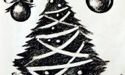 水草造景【圣诞活动】签字笔手绘圣诞树