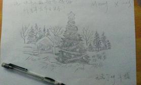 【圣诞活动】手绘圣诞树