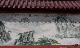 鱼缸造景给大家看看这个壁画水草缸作为造景参考